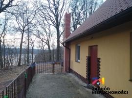 Całosezonowy dom z widokiem na jezioro, Długie. NOWA CENA, Okazja!